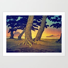 Domi's Heart at Sunset Art Print