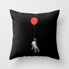 Astronaut balloon Throw Pillow