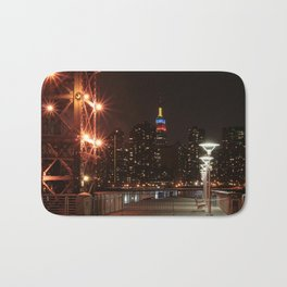 Empire state building with colombian flag Bath Mat