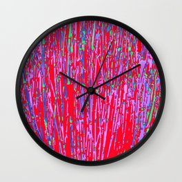 colorful streaks Wall Clock