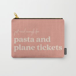 Pasta and Plane Tickets - Rust Carry-All Pouch