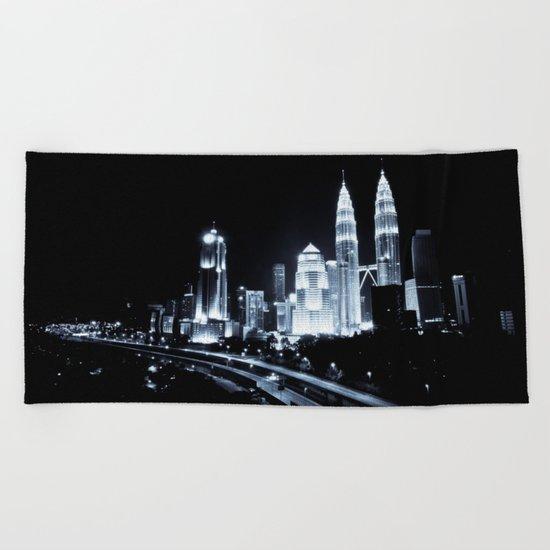 Kuala Lumpur night Beach Towel
