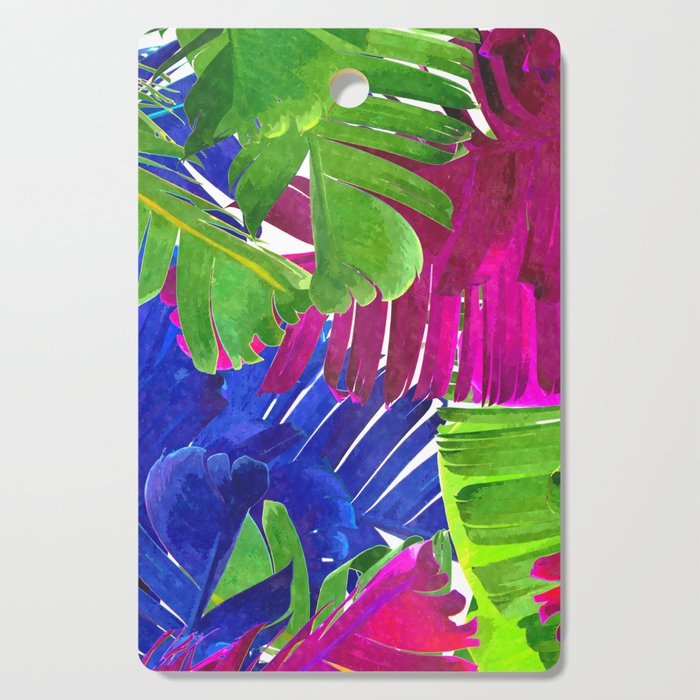 Colorful tropical leaves Cutting Board