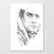 bonobo dot work portrait Canvas Print