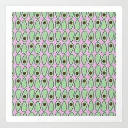 Picking Avocados Art Print