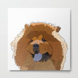 Chow Chow Dog Metal Print