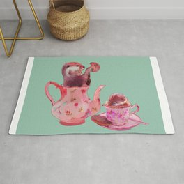 Otter Tea and Biscuits Rug
