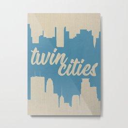 Twins Cities Skylines-Minneapolis and Saint Paul, Minnesota Metal Print