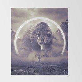 aegis II   bear Throw Blanket