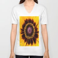 sunshine V-neck T-shirts featuring SUNSHINE by Annie Koh