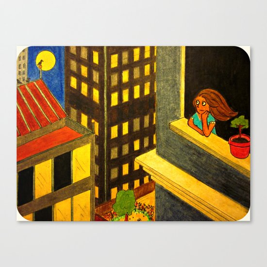 """The Girl Who Is Okay"" Canvas Print"