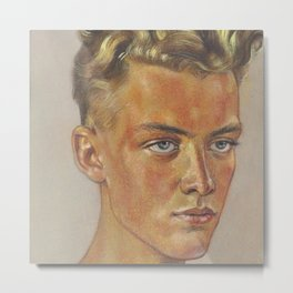 Portrait of a Young Man by Wolfgang Willrich Metal Print