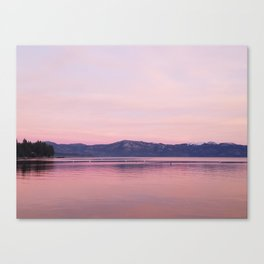 Rose Colored Dream of Lake Tahoe Canvas Print