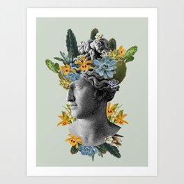 Green Statue Art Print
