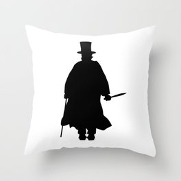 Jack the Ripper Silhouette Throw Pillow