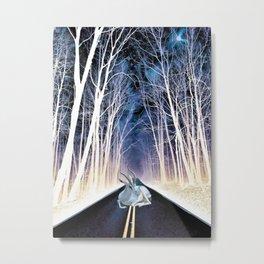 Road Block Metal Print