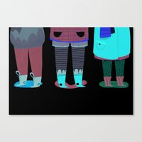shoes Canvas Prints featuring Shoes by genie espinosa