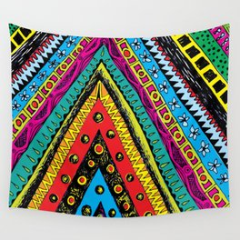 colorful triangle tribal Wall Tapestry