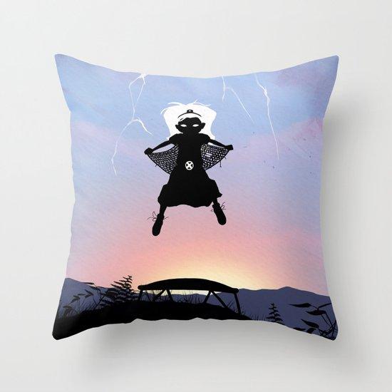Storm Kid Throw Pillow