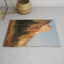Sentinel Rock Yosemite 1880 By Thomas Hill | Reproduction Rug