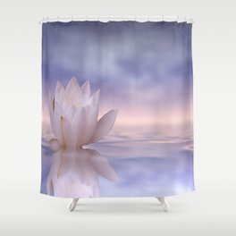 the lonely water lily Shower Curtain