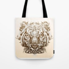 The White Tiger (Gold Version) Tote Bag