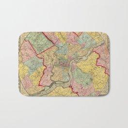 Map of Philadelphia 1849 Bath Mat