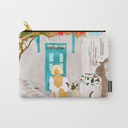 Greek Vacay #illustration #painting Carry-All Pouch