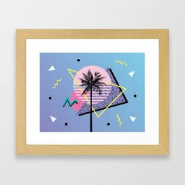 Memphis pattern 46 - 80s / 90s Retro / Palm Tree Framed Art Print