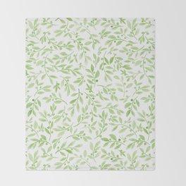 Leaves and Berries | Original Greenery Palette Throw Blanket