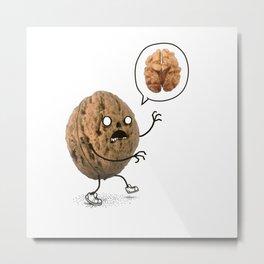 Zombie Walnut Metal Print