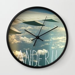 wanderlust airplane Wall Clock