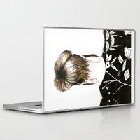 emma stone Laptop & iPad Skins featuring Emma  by Yaz Raja Designs