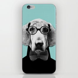 Mr Italian Bloodhound the Hipster iPhone Skin