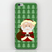 santa iPhone & iPod Skins featuring Santa by Alapapaju