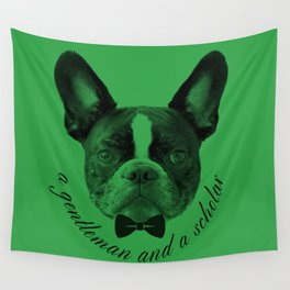 James: A Gentleman and a Scholar in Green Wall Tapestry