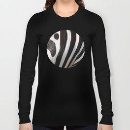 """Pop Safari 01 Zebra"" Long Sleeve T-shirt"