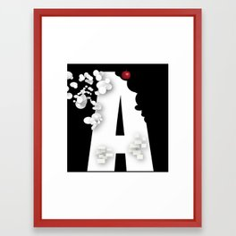 Alphabet A for Apple Framed Art Print