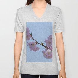 pink sakura flower in bloom Unisex V-Neck