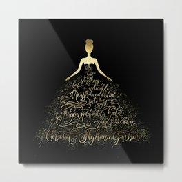 Scarlett's Enchanted Dress. Caraval Metal Print