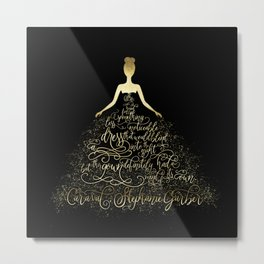 Scarlett's Enchanted Dress. Caraval Metal Print