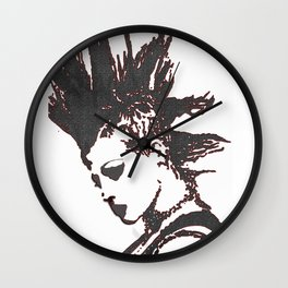 punk rocker girl Wall Clock