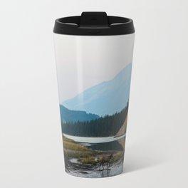 Dreamy Elk Sunset Travel Mug