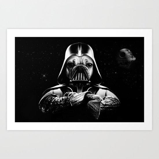 Pug Vader Art Print