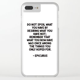 EPICURUS words of wisdom Clear iPhone Case
