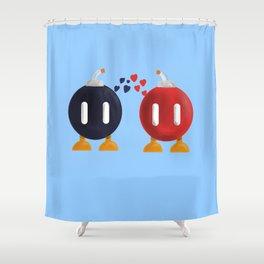 Bomb-Omb Love Shower Curtain