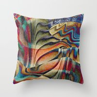waterfall Throw Pillows featuring Waterfall by Klara Acel