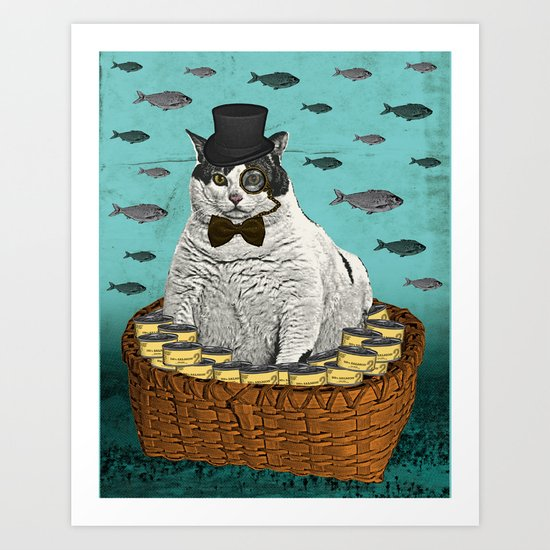 Fat Cat Print Art Print
