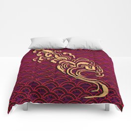 Fishscales Red Comforters