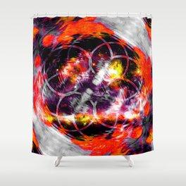 Orange Aura Shower Curtain